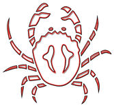 Crab illustration Stock Image