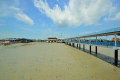 The bridge. Discover Crab Island new Strait of Malaka Royalty Free Stock Image