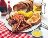 Crab Leg Dinner Stock Photo