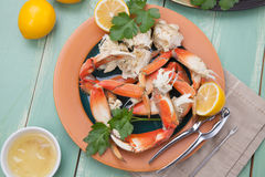 Crab Legs Appetizer Stock Photo