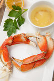 Crab Legs Appetizer Royalty Free Stock Photos