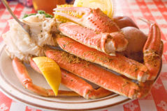 Crab legs platter Royalty Free Stock Photography