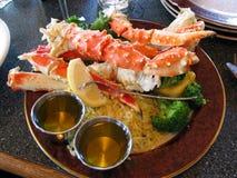 Crab legs rice. Set,alaska food Stock Photo