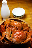 Crab and liqueur Stock Images
