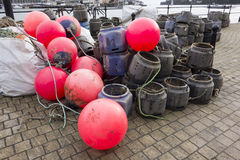 Crab and Lobster Pots Royalty Free Stock Photography