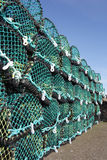 Crab and lobster pots. Fishing royalty free stock photo