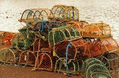 Crab and Lobster pots, Dunbar, Scotland Stock Images