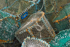 Crab and Lobster Traps Stock Photo