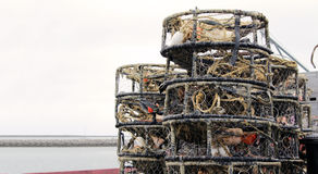 Crab and Lobster Traps Royalty Free Stock Images