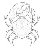Crab - low polygon illustration. Crab. Low polygon linear vector illustration Royalty Free Stock Photos