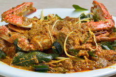 Crab Masala. In Indian style Stock Photography