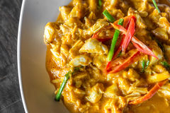 Crab meat curry Stock Images