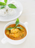 Crab meat curry with rice noodle Royalty Free Stock Photo