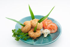 Crab meat cutlets Stock Photography