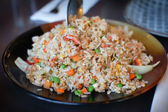Crab meat fried rice Royalty Free Stock Photo