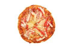 Crab Meat Pizza Stock Photo