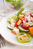 Crab meat salad Stock Photo