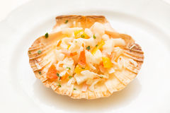 Crab meat in salad Royalty Free Stock Photos
