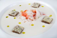 Crab meat soup Stock Images