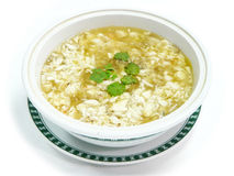 Crab meat soup chinese style Royalty Free Stock Image