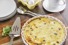 Crab and mushroom quiche Royalty Free Stock Photo
