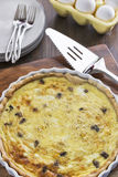 Crab and mushroom quiche Royalty Free Stock Images