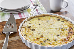 Crab and mushroom quiche Royalty Free Stock Image