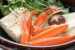Crab nabemono , japanese steamboat dish Royalty Free Stock Photo
