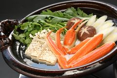 Crab nabemono , japanese steamboat dish Stock Photography