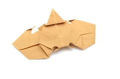 Crab origami Stock Photography