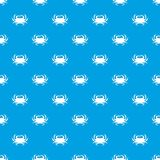 Crab pattern seamless blue. Crab pattern repeat seamless in blue color for any design. Vector geometric illustration Stock Photo