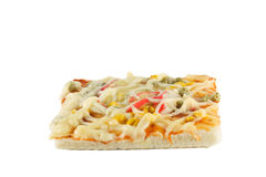 Crab pizza. Crab pizza fast food of the Itaian Royalty Free Stock Photography