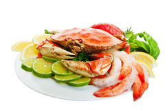Crab platter Stock Photography