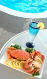 Crab by Pool Royalty Free Stock Image