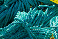 Crab Pot Rope. A pile of Rope Waiting for it's Crab Pots Stock Photography