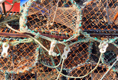 Crab pots background. Royalty Free Stock Photos