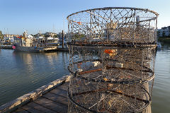 Crab Pots on the Dock, Steveston Royalty Free Stock Photo