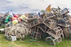 Crab Pots Royalty Free Stock Photography