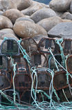 Crab pots in Galicia. Stock Photo