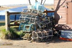 Crab pots Royalty Free Stock Photos