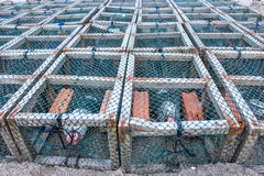 Crab pots Royalty Free Stock Image