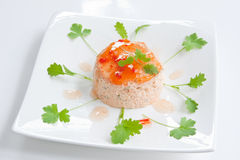 Crab & Prawn Mousse Stock Photography