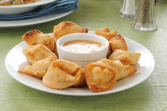 Crab rangoon Stock Photography