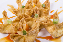 Crab Rangoon. Picture for use in restaurant Royalty Free Stock Photo