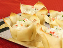 Crab Rangoon Platter Royalty Free Stock Image