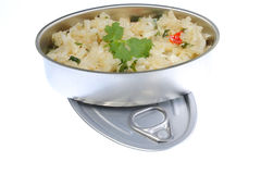 Crab Risotto Tin Royalty Free Stock Image