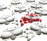 Crab Robot Standing Out From Crowd Stock Photography