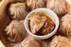 Crab Roe and beef buns Stock Photo