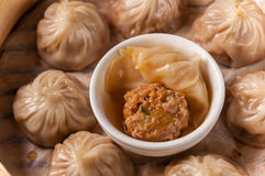Crab Roe and beef buns Royalty Free Stock Photography
