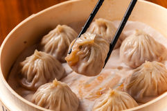 Crab Roe and beef buns Stock Photography